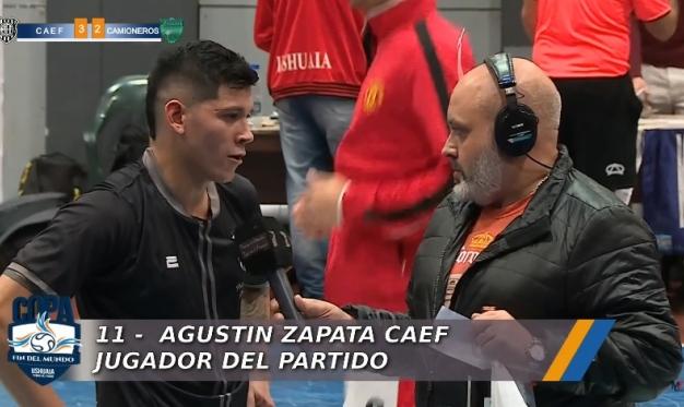 AGUSTIN ZAPATA: EL JUGADOR DEL PARTIDO